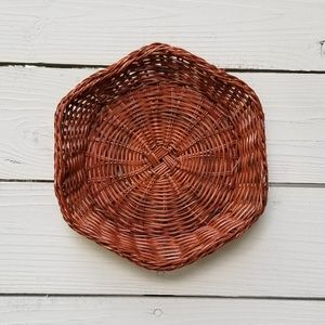 Other - Boho Brown Basket Weave Catch All Tray